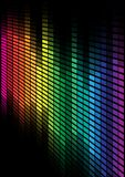 Abstract Background. Multicolor Equalizer on Black Background / Vector Stock Image