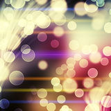 Abstract background. With glowing circles and multicolor rays Stock Image