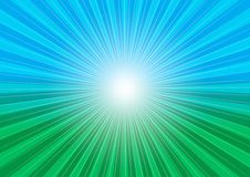 Abstract Background. Sun Rays, Sky and Meadow / Vector royalty free illustration