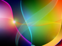Abstract background. An abstract colored background with a curving or bending feel Stock Images