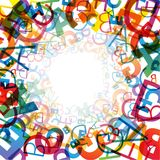 Abstract background. With colorful rainbow letters royalty free illustration