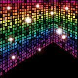 Abstract Background. Multicolor Cubes on Black Background / Vector vector illustration