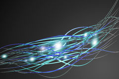 Abstract background. Abstract digital illustraion resembling wires or fiber optics Stock Photos