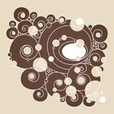Abstract  background. With curls and circles Royalty Free Stock Photography