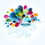 Abstract background. Abstract colorful background with drops stock illustration