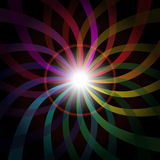Abstract Background. Multicolor Rays on Black Background / Vector stock illustration