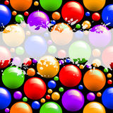 Abstract background. With coloured balls, this  illustration may be useful  as designer work Royalty Free Stock Images