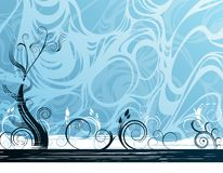 Abstract  background. With ornament shapes Stock Image