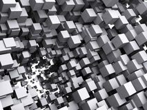 Abstract background. Abstract architectural background with 3d cubes Royalty Free Stock Photography