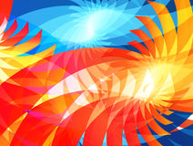 Abstract background. Vector illustration in blue, red and orange colors Royalty Free Stock Photography