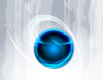 Abstract background. With blue sphere stock illustration