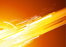 Abstract  Background. Vector illustration of abstract orange hi-tech Background Stock Image