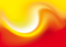 Abstract Background. Red/Orange Wave. Vector Illustration Royalty Free Stock Photography
