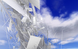 Abstract background. With sky and paper vector illustration