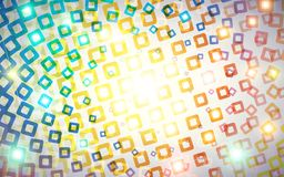Abstract background. Colorful rounded squares with lights Stock Image