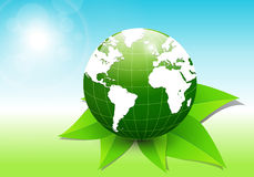 Abstract background. Green earth concept Royalty Free Stock Photography