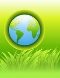 Abstract background. Green earth concept Stock Illustration