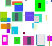 Abstract background. With colourful squares and rectangles, white background Royalty Free Stock Photography
