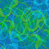 Abstract background. Vector illustration in green and blue colors Stock Image