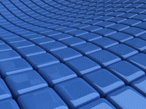 Abstract background. With blue cubes wave Stock Photos