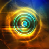 Abstract background. Colorful abstract background, glowing circle Stock Image