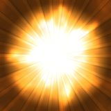 Abstract background. Orange rays converge toward the center. Abstract background Stock Photos