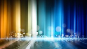Abstract background. Glowing colored lines with round flare and reflection Stock Images