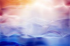 Abstract background. Glowing blurred colored waves vector illustration