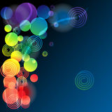 Abstract background. Circle and swirly elements on the dark background Royalty Free Stock Photo