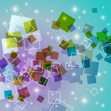 Abstract Background. An Abstract Background Design with Colorful Transparent Squares Royalty Free Illustration