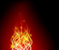 Abstract background. With stars and lines shaped as a flame Stock Photography