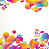 Abstract background. Abstract background with bright circles and teardrop-shaped arches. Illustration for your design Stock Images