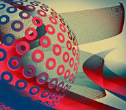 Abstract background. In blue and red tones Stock Illustration