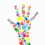 Abstract background. Abstract  hand prints background Stock Images