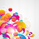 Abstract background. Abstract background with bright circles and teardrop-shaped arches Stock Image