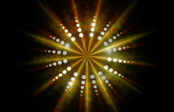 Abstract background. With yellow round shape and retro rays Royalty Free Illustration
