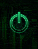Abstract background. Abstract technology theme background with power button. Eps10 Stock Photos