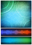 Abstract background. Abstract design, technology theme  background and two horizontal banners. Eps10 Royalty Free Stock Photo