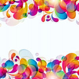 Abstract background. Abstract background with bright circles and teardrop-shaped arches. Illustration for your design Stock Photo