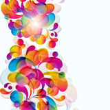 Abstract background. Abstract background with bright circles and teardrop-shaped arches Stock Photography