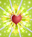 Abstract background with heart and stars Royalty Free Stock Image