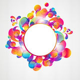 Abstract background. Abstract background with bright circles and teardrop-shaped arches. Illustration for your design Stock Photography