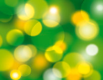 Abstract background. Consist of shine, splashes, green and gold circle Stock Images