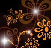 Abstract background. Abstract flora background, dark brown illustration royalty free illustration