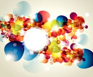 Abstract background. With bright splashes and transparent bubbles stock illustration