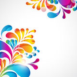 Abstract background. Abstract background with bright teardrop-shaped arches Royalty Free Stock Photo