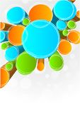 Abstract background. Abstract colorful background with circles Royalty Free Stock Image