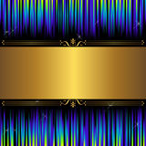 Abstract background. Abstract background with golden banner Royalty Free Stock Photos