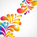 Abstract background. With bright teardrop-shaped arches. Illustration for your design royalty free illustration