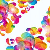 Abstract background. Abstract background with bright circles and teardrop-shaped arches. Illustration for your design Royalty Free Stock Image